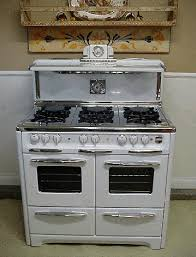 6 burner stove with double oven. Delighful Burner Antique Gas Stoves Vintage Wedgewood 6 Burner Double Oven With Glass Doors  Clock With Salt U0026 Pepper Shakers Cook Light And Timer Inside Stove H