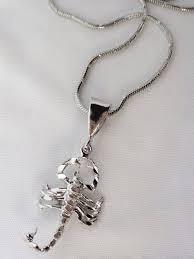 silver scorpion necklace silver