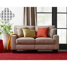 ... Cool Love Seat Couch Faux Leather Loveseat Recliner Brown Curtain And  Sofa Red And ...