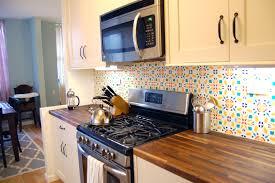 wallpaper backsplash vinyl kitchen tile backsplash surripuinet