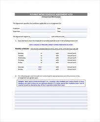 weekly schedule example sample weekly work schedule template 8 free documents