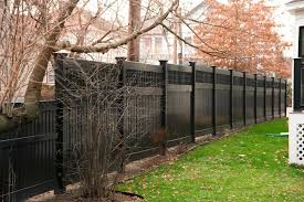 brown vinyl fence panels. Brown Vinyl Fence Illusions Black Semi Privacy Wood Grain Color Dark Panels