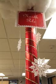 christmas decorations ideas for office. Red-coloumn Christmas Decorations Ideas For Office