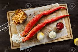 Alaskan King Crab Legs With Butter And ...