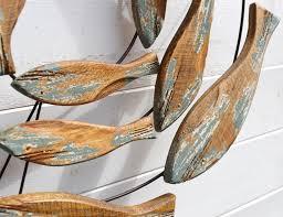 fish swirl wall art wood