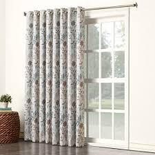 sun zero kara extra wide energy efficient grommet patio door curtain panel drapes for patio doors i73 patio