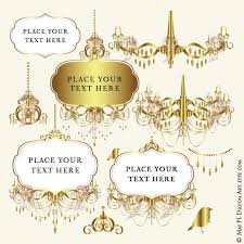 crown royal clipart gold chandelier 4