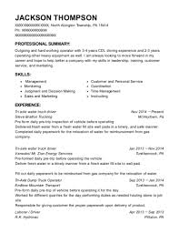 Cdl Driver Resume Sample Best of Best Tri Axle Water Truck Driver Resumes ResumeHelp