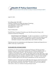 Policy Committee Recommendations On Safety Patient Safety