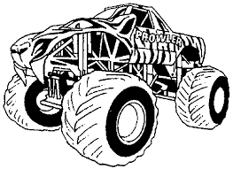 Monster Truck Coloring Pages - GetColoringPages.com