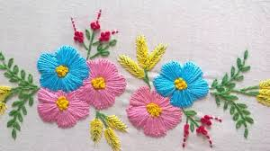 Flower Designs For Pillow Cases Hand Embroidery Designs Tiny Design For Cushion Covers