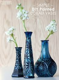 vases best 25 painted glass vases ideas on painted glass within painting glass