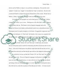 sonnet vs dim lady essay example topics and well written sonnet 130 vs dim lady essay example