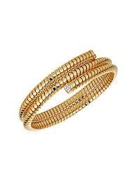 Marina <b>B</b> - 18K Yellow Gold & Pavé Diamond <b>Bangle Bracelet</b> - saks ...