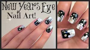 New Years Eve Nail Art! No Tools Needed!!! | MissJenFABULOUS - YouTube