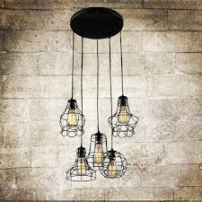 pendant lighting industrial. Vintage Wrought Iron Industrial Hanging Lights Pendant Lighting S