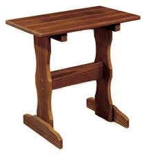 amish made pine patio end table