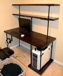 office desk shelves. Contemporary Desk Desk With Shelves Above Office Awesome Computer Shelf  Beautiful Design Inspiration   Intended Office Desk Shelves S