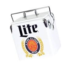 miller lite wooden cooler ice chest for s