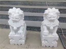 small white marble lion sculptures outdoor lion statue decoration fu dog handcarved sculptures