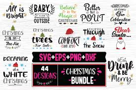 This is a personal use svg file and it's perfectly compatible with cricut explore, silhouette cameo, brother. Christmas Bundle 44 Christmas Designs Graphic By Svg In Design Creative Fabrica