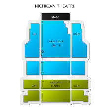 Michigan Theater Seating Chart Michigan Theatre Ann Arbor 2019 Seating Chart