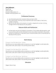 Canada Resume Template Professional Resume Template Examples Example Skills Based