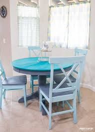 Chalk Paint Table Makeover Classy Paint Dining Room Table Property