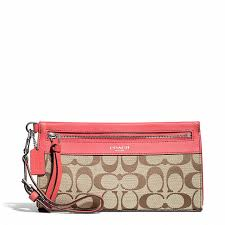 Coach LEGACY LARGE WRISTLET IN SIGNATURE FABRIC