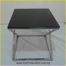 ct09 black cross legged coffee table