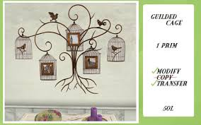 guilded cage wall art bird paris shabby chic on metal wall art shabby chic with second life marketplace guilded cage wall art bird paris shabby chic