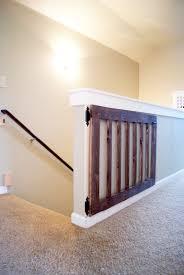 Dutch Door Baby Gate Custom Baby Gate Minwax Dark Walnut Diy Baby Gate And Baby Gates
