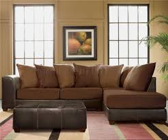 dark brown ter back sectional sofa w microfiber seats