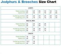 Breeches Size Chart Shires Ladies Saddlehugger Breeches