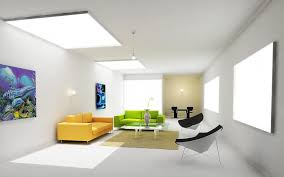 ... Interior Design, Interior Modern Home Interior Design Green And Yellow  Sofa White Nd Black Lounge ...