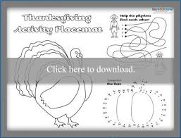 This free printable thanksgiving placemat is a fun way to keep the kids entertained before or during dinner. Free Printable Thanksgiving Placemats Lovetoknow