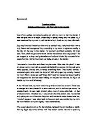 early childhood memories essay  earliest memories essays and papers