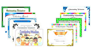 Editable Outstanding Volunteer Certificate Template Of The Month