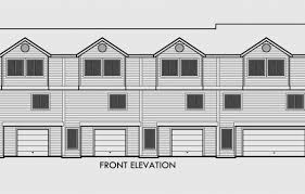 Multi Family Unit House PlansQuadplex Plans