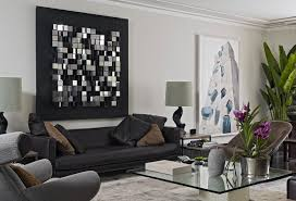 black living room wall decor