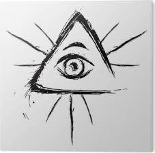 Boží Oko Symbol Vytvořený Ve Stylu Grunge