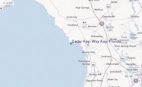 Tide Chart For Cedar Key Florida Cedar Key Way Key Florida Tide Station Location Guide