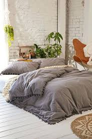 black and white king size duvet covers magical thinking pom fringe duvet cover grey comforterwhite beddingcomforter light grey gray 100 egyptian cotton
