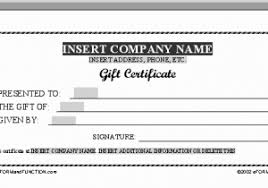 Free Printable Gift Certificates Or Free Gift Certificate