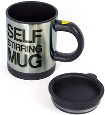 Available in white color and with stainless steel material, it would be suitable for your use. Amazon Com Oliadesign Forum Novelties Self Stiring Mug Silver Black Coffee Cups Mugs