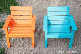 outdoor kids chair wood color
