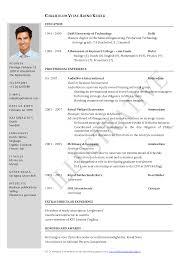 Word Resume Layout Cv Word Template English