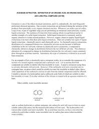 Extraction Flow Chart Of Benzoic Acid Naphthalene And
