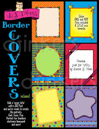 Cool Title Pages Printable Clip Art Borders For Cover Pages By Dj Inkers Dj