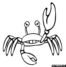 Small Picture Crab Coloring Page Free Crab Online Coloring